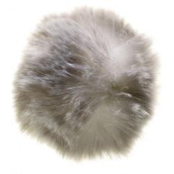 Pompon imiteret kanin sølvgrå 6 - 8 cm