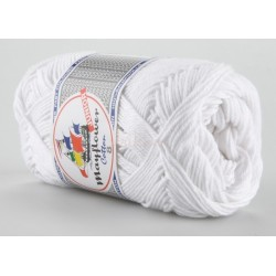 Mayflower Cotton 8 junior farve 1402 hvid