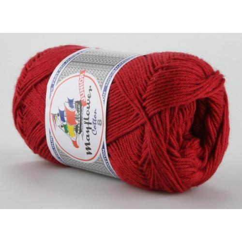Mayflower Cotton 8 farve 1412 mørkerød