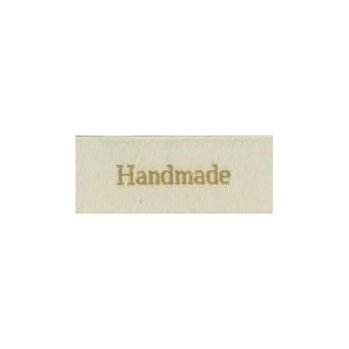 "Label ""handmade"" 5 x 2 cm i beige"