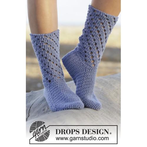 Blue Stars by DROPS Design 35-43 DROPS NEPAL