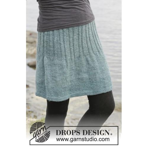 Angel Falls Skirt by DROPS Design S-XXXL DROPS KARISMA