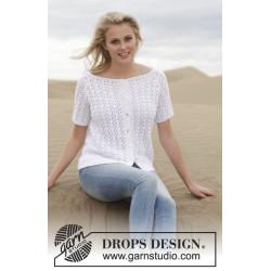 Malena Cardigan by DROPS Design S -XXXL DROPS SAFRAN