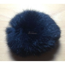 Pompon kanin sort 10 cm