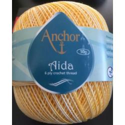Anchor Aida multifarve gul 01115, størrelse 10, 50g